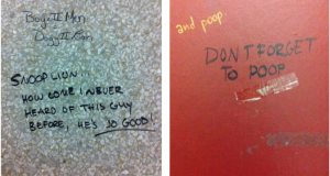 "Bathroom graffiti is a ""cultural phenomenon"""