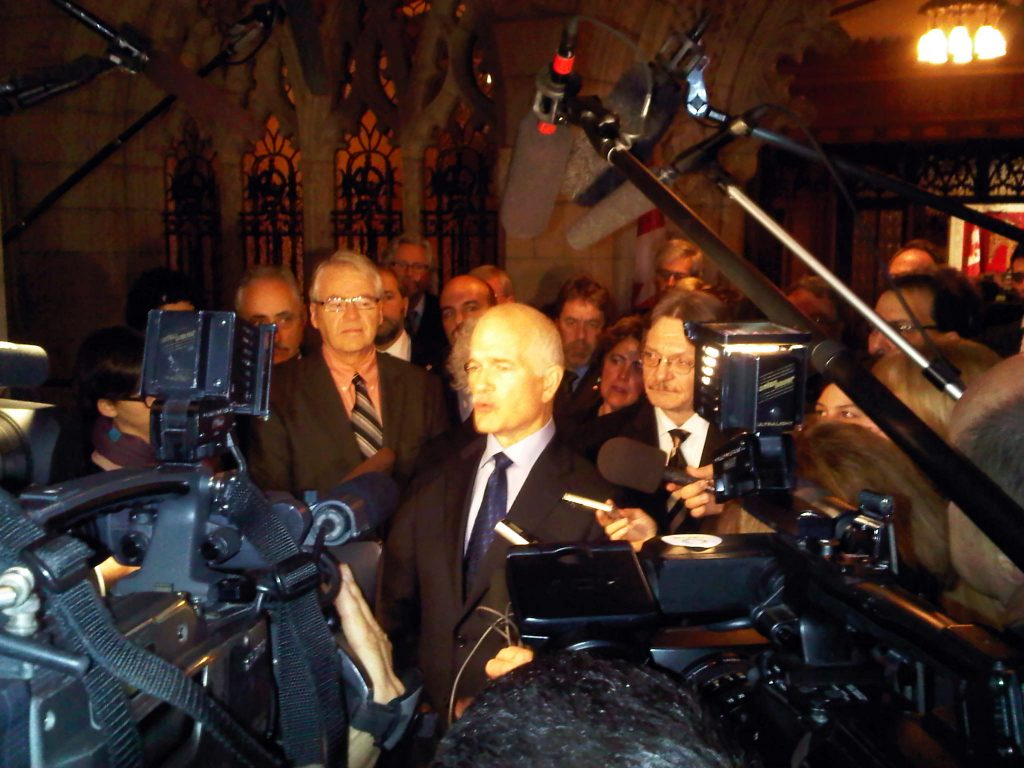 Jack Layton casts a long shadow. Photo taken from Flickr user Bruce Hyer.
