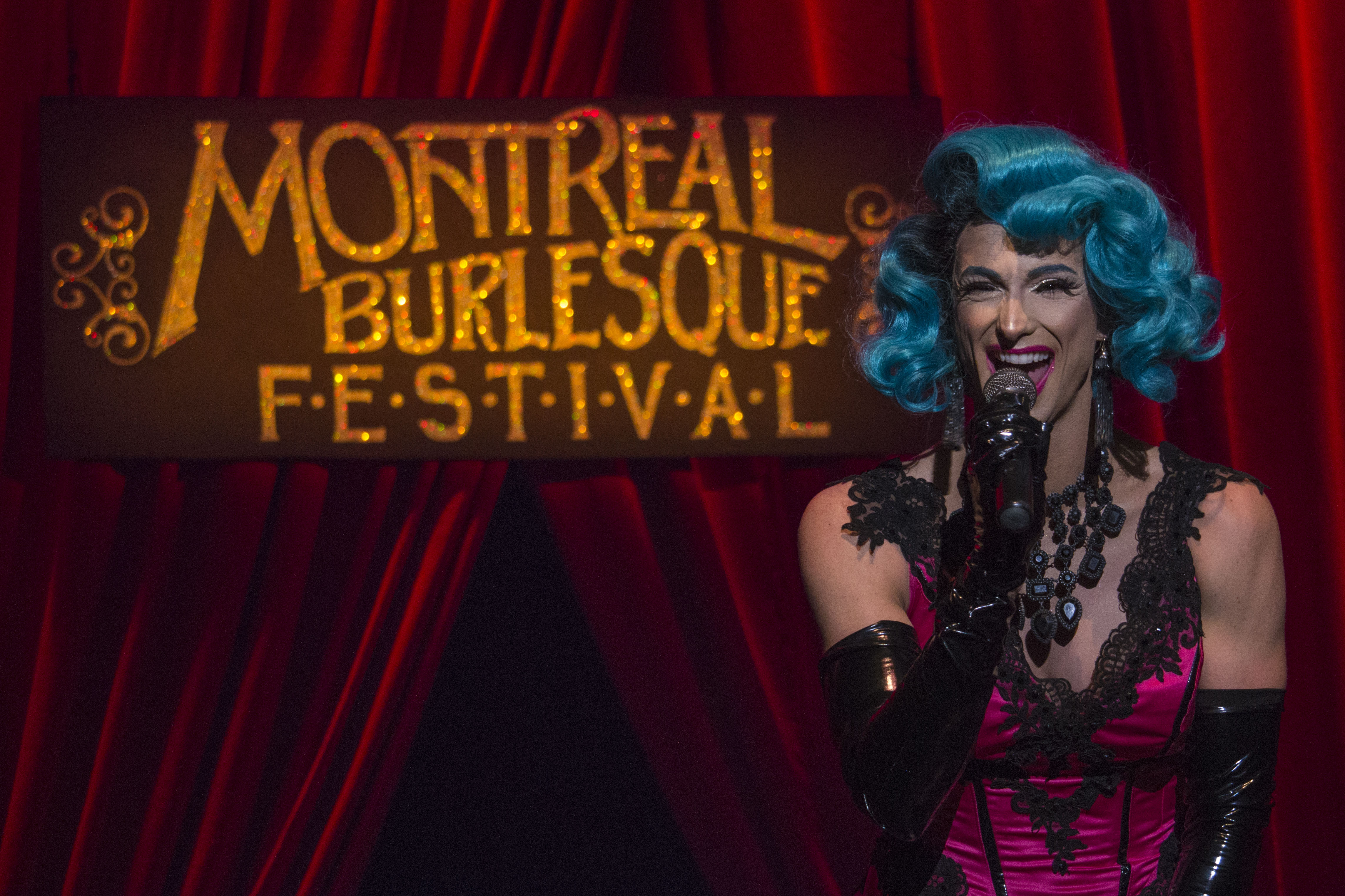 Billy L'Amour: the enthusiastic and entertaining host of the seventh edition of the Montreal Burlesque Festival. Photo by Kelsey Litwin.