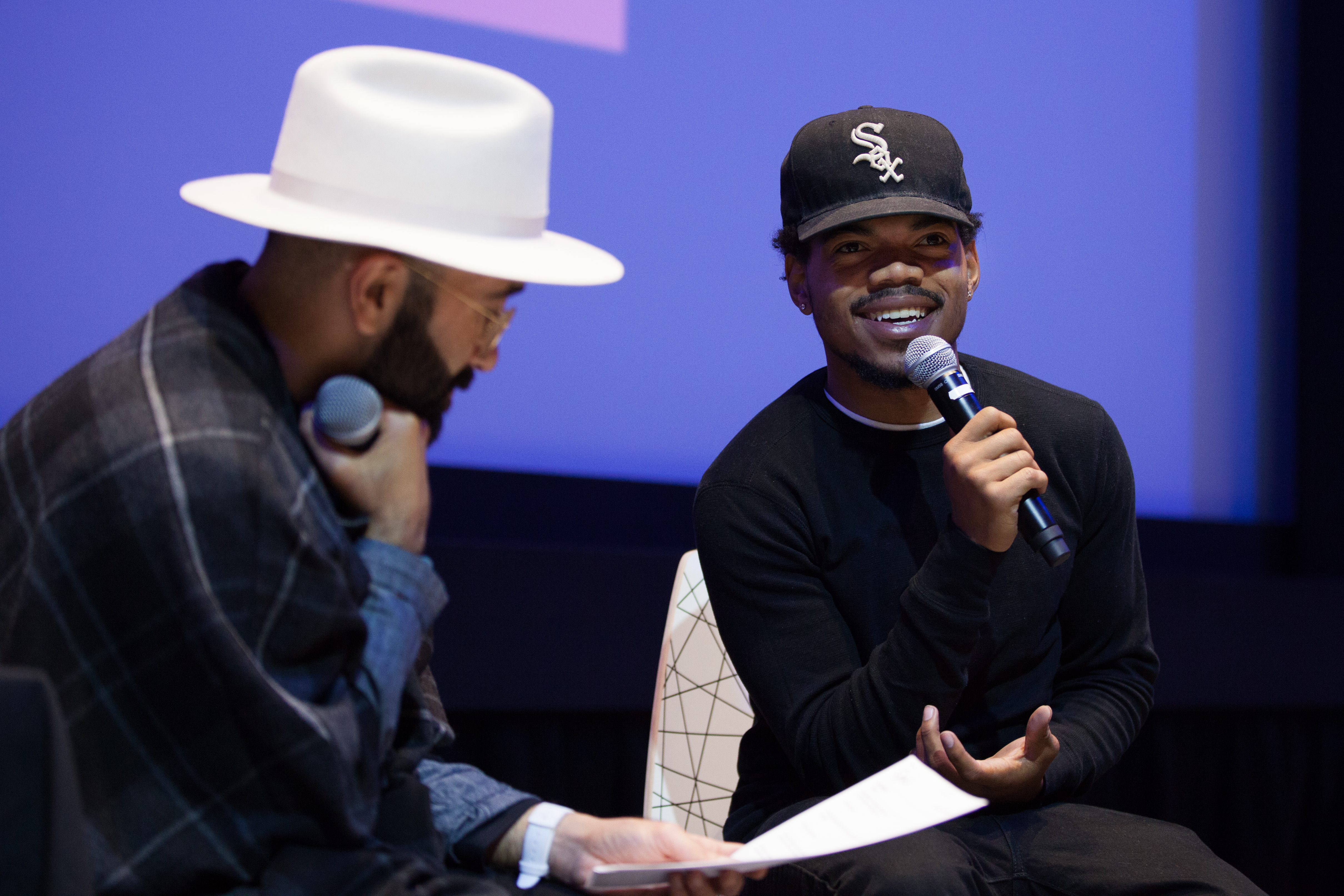 Prior to his show at L'Olympia, Chance the Rapper hung out with none other than Concordia's own The Narcicyst. Photo by Marie-Pierre Savard.