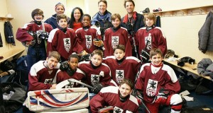 Royal Vale elementary school's hockey team is the brainchild of gym teacher Norman Katz. Photo by Norman Katz.