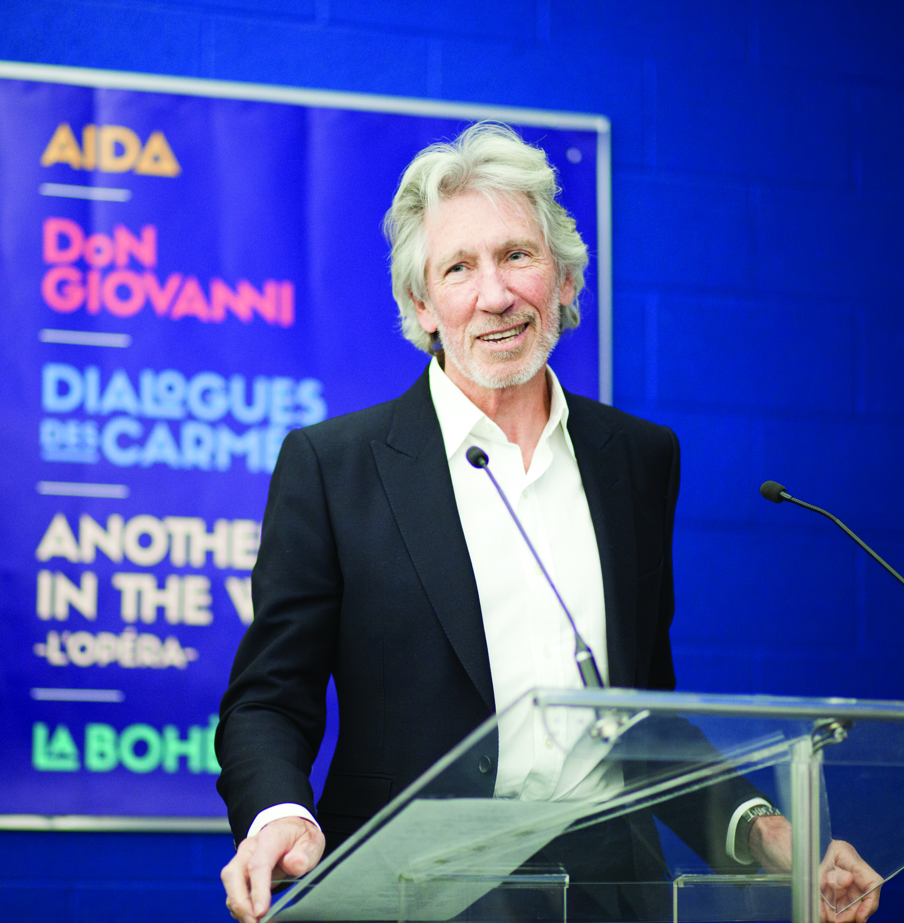 Roger Waters spoke at the Opéra de Montréal's upcoming season announcement on March 3.