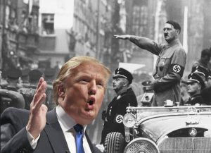 The haunting similarities between the politics of Donald Trump and Adolf Hitler. Photo courtesy of JFX-Gillis from Creative Commons.