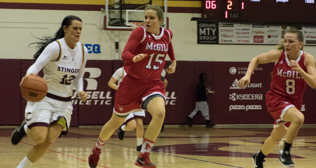 The women's team played well all game, keeping McGill at bay in the fourth quarter. Photos by Ana Hernandez.