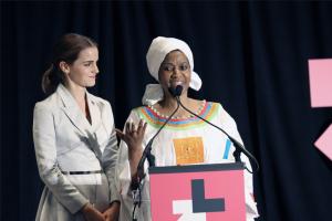 UN Women Goodwill Ambassador Emma Watson and UN Women Executive Director Phumzile Mlambo-Ngcuka. Photo from Flickr by UN Women.