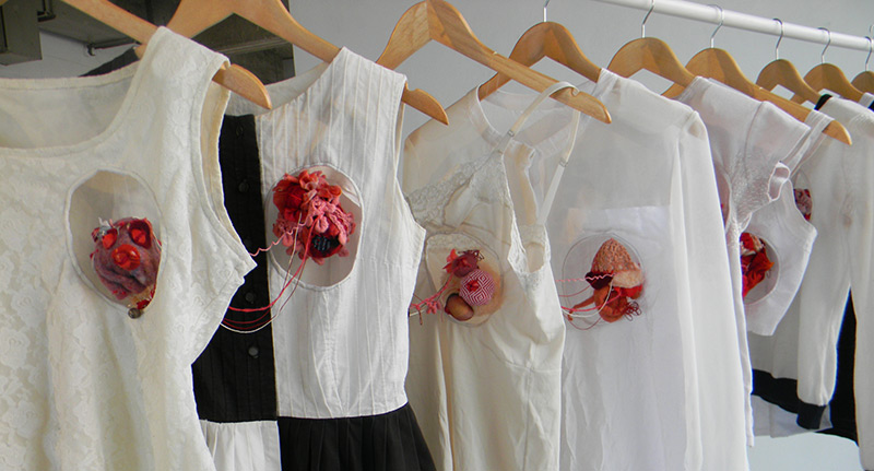 The Worn exhibit features photos and works by a variety of Concordia arts students, and speaks to the ephemeral nature of what we wear and the notions our clothing exudes. Photos by Lindsay Richardson.