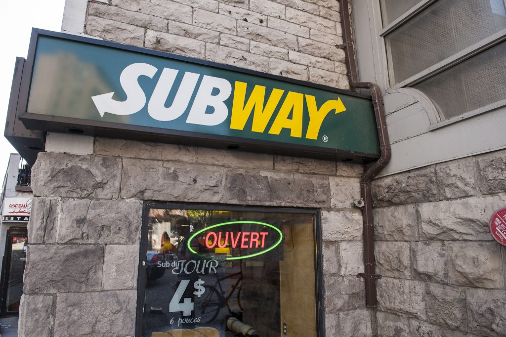 Subway sandwiches with less fat still pack in a lot of salt.