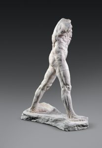 A perfect example of Rodin's focus on pronounced musculature in his sculptures. Photo from Press Photo.