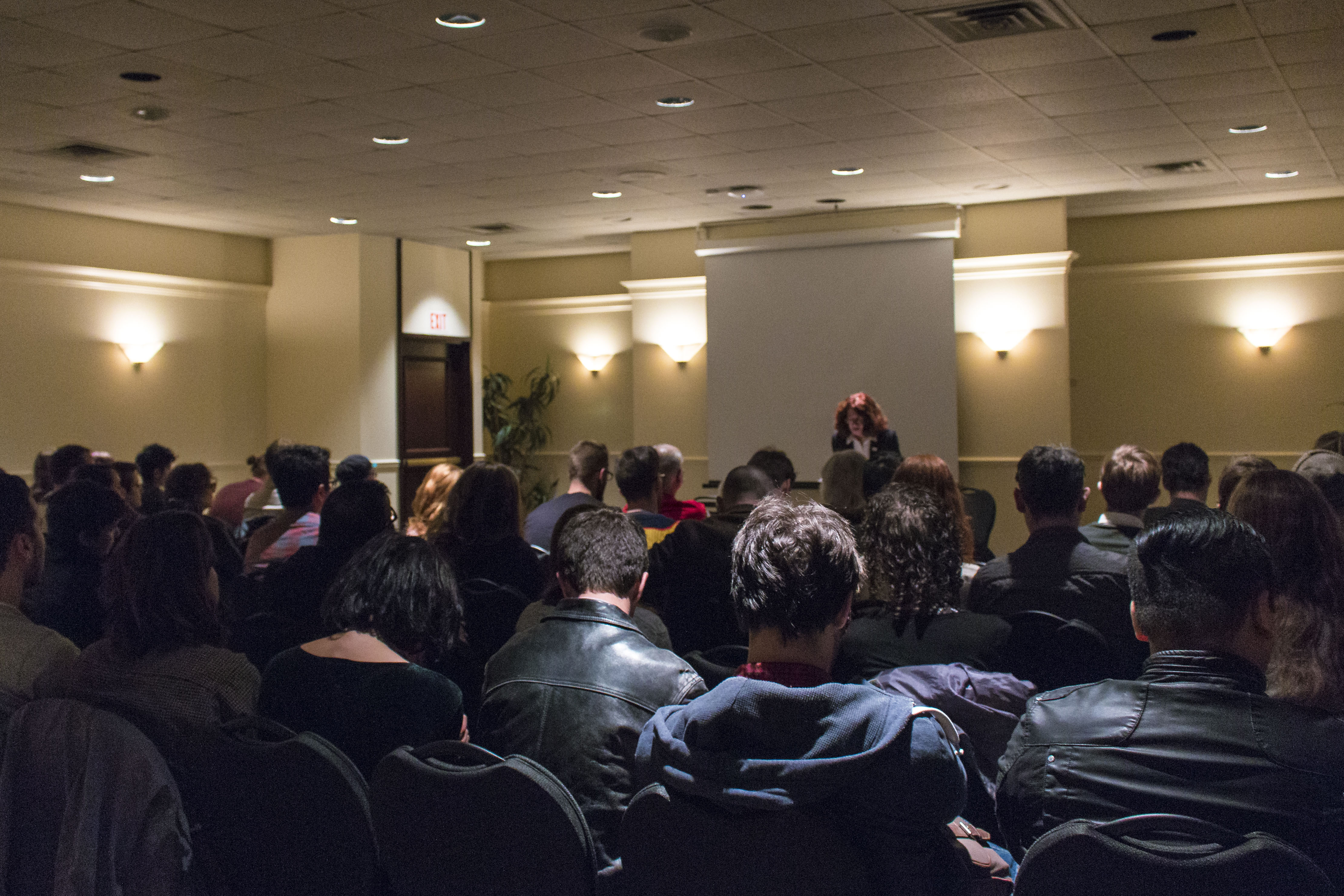 Mary Ruefle read her audience new—sometimes unpublished—work. Photo by Kelsey Litwin.