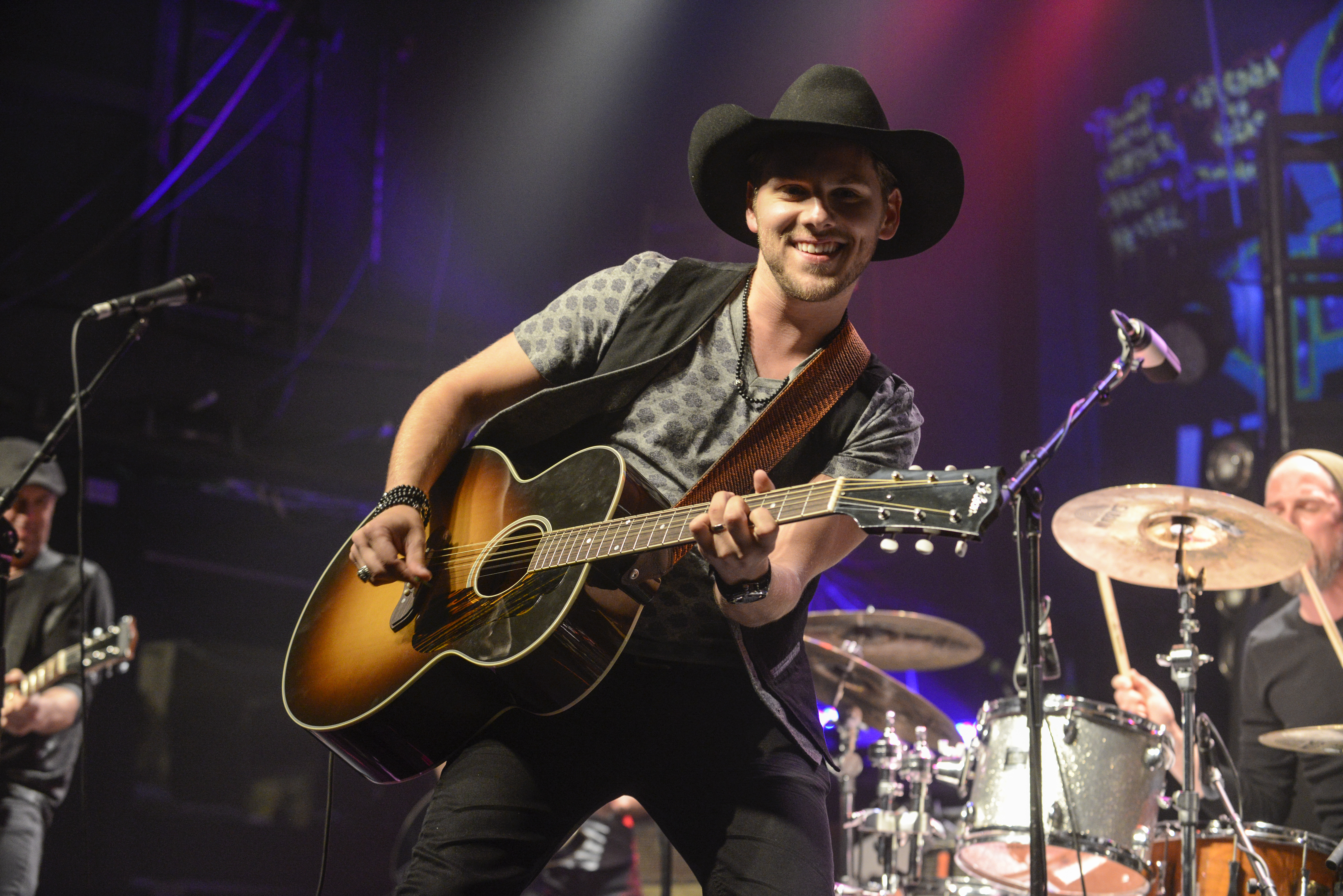Canadian country star Brett Kissel playing before a crowd of loving fans at the Phoenix Hall in Toronto. Photo by Andrej Ivanov.
