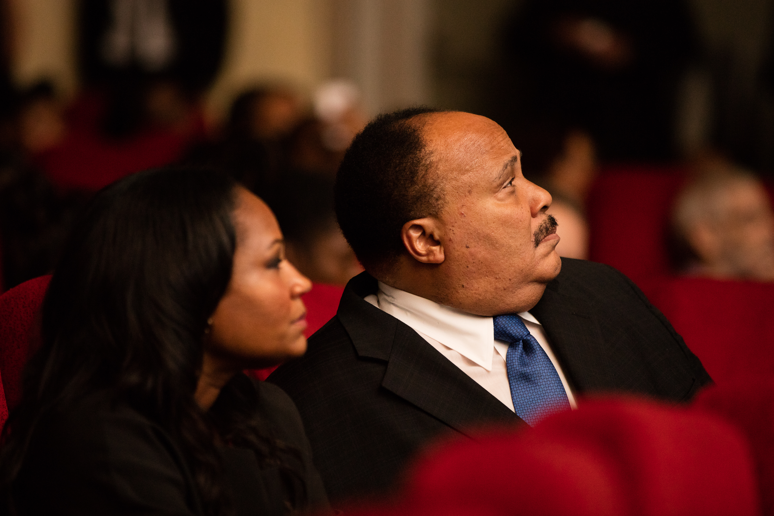 Martin Luther King III and wife Andrea Waters in the audience. Photo by Marie-Pier Savard.