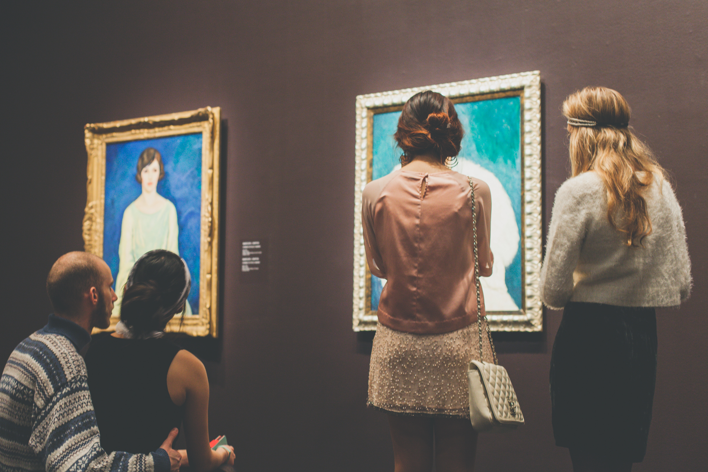 Visitors peruse the paintings that influenced Montreal's art scene over the last century. Photo by Marie-Pierre Savard.