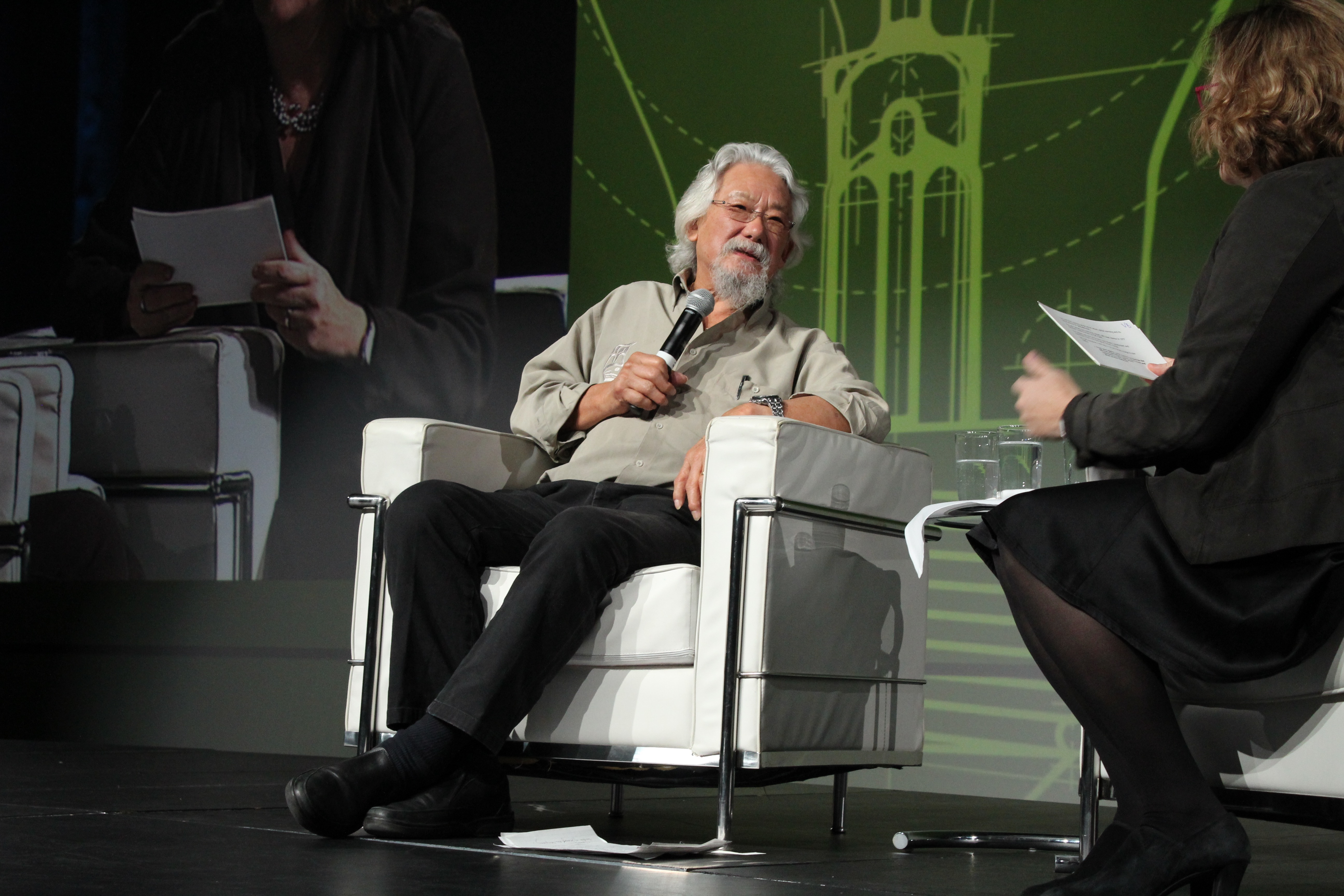 David Suzuki during his talk at the Montreal Summit on Innovation on Monday. Photo by Gregory Todaro.