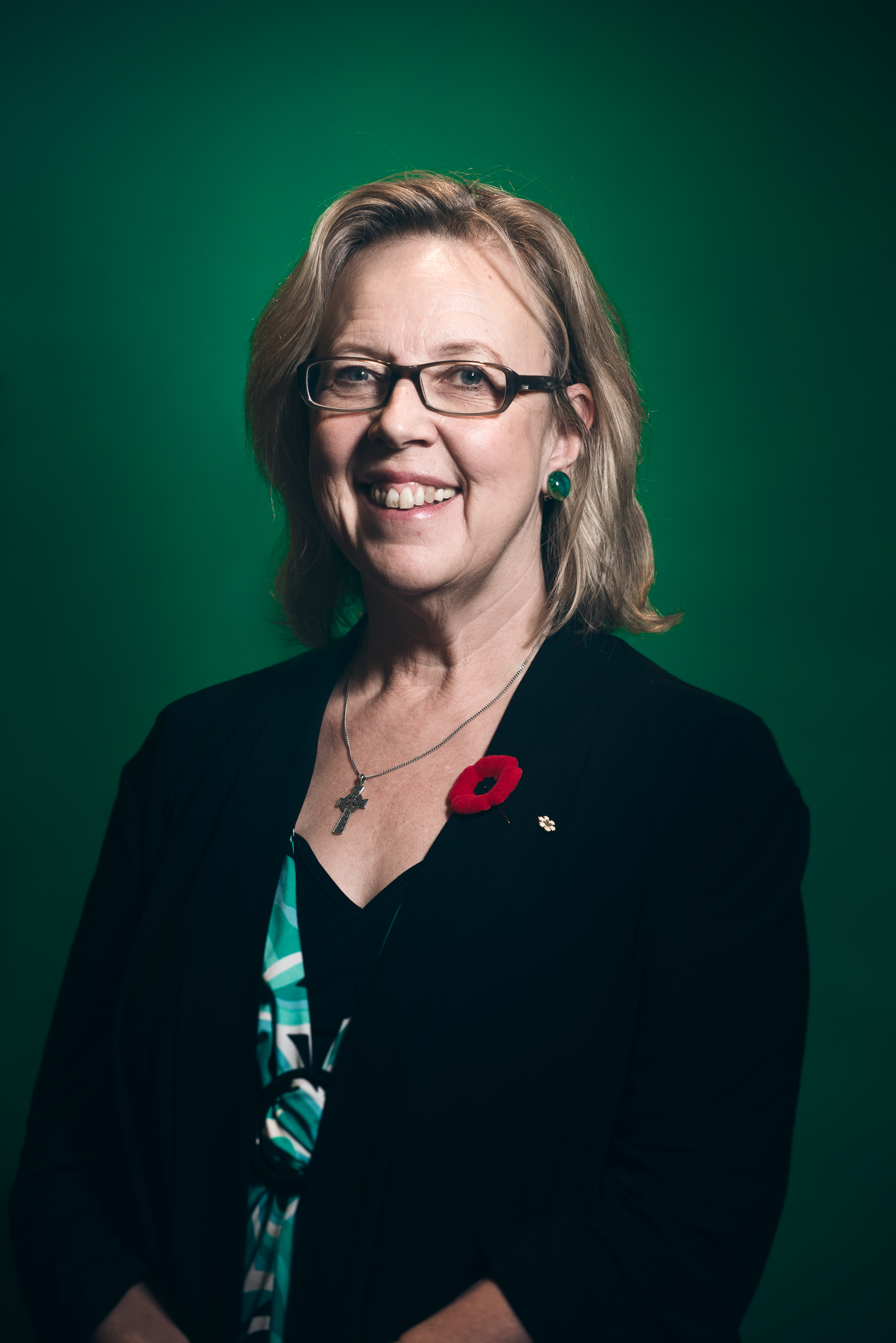 Elizabeth May, leader of the Green Party of Canada, made guaranteed livable income part of the party's campaign platform. Photo by Keith Race.