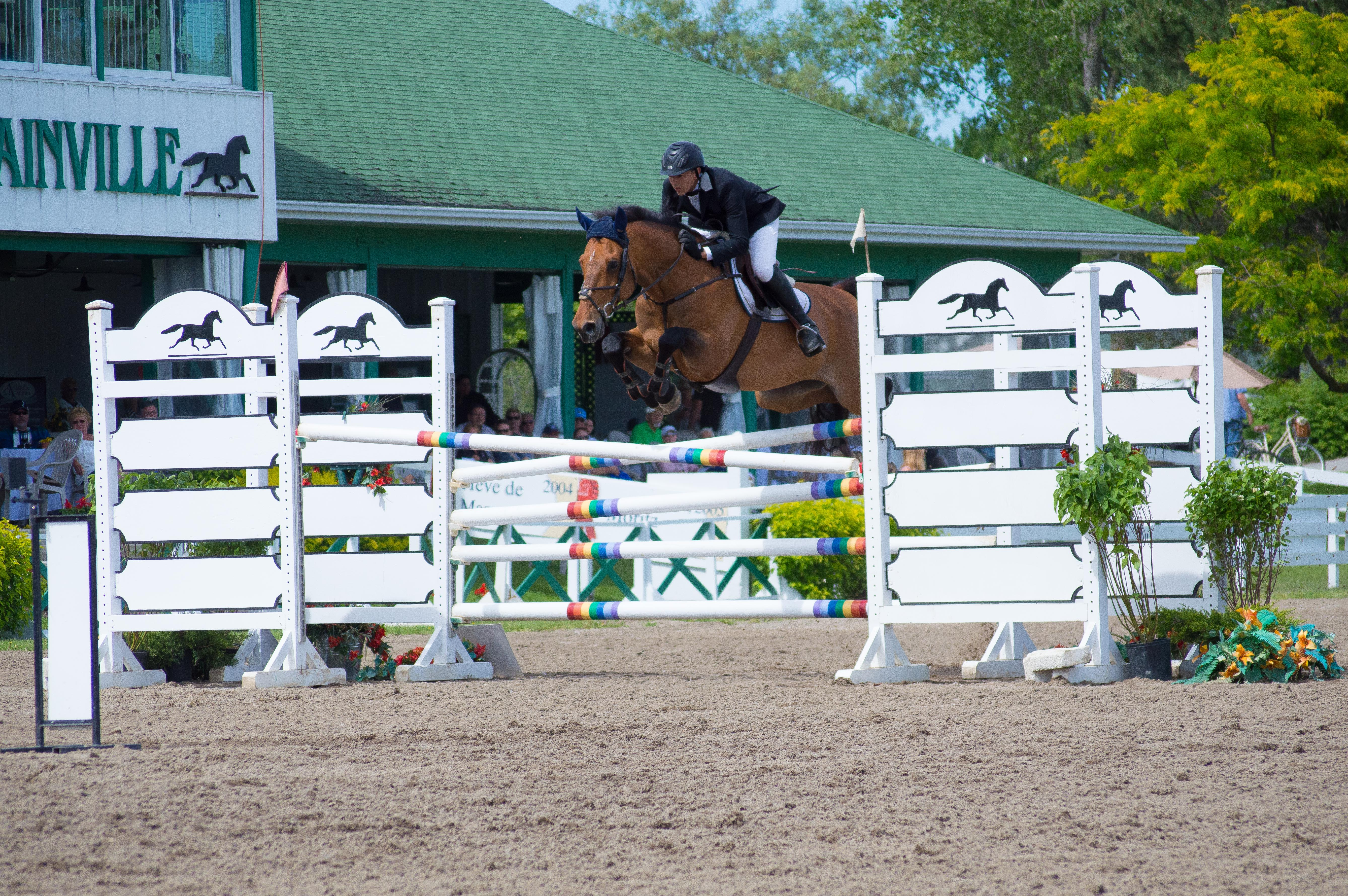 Blainville Equestrian Park plays host to many show-jumping competitions during the season. Photo by Kennedy Simpson.