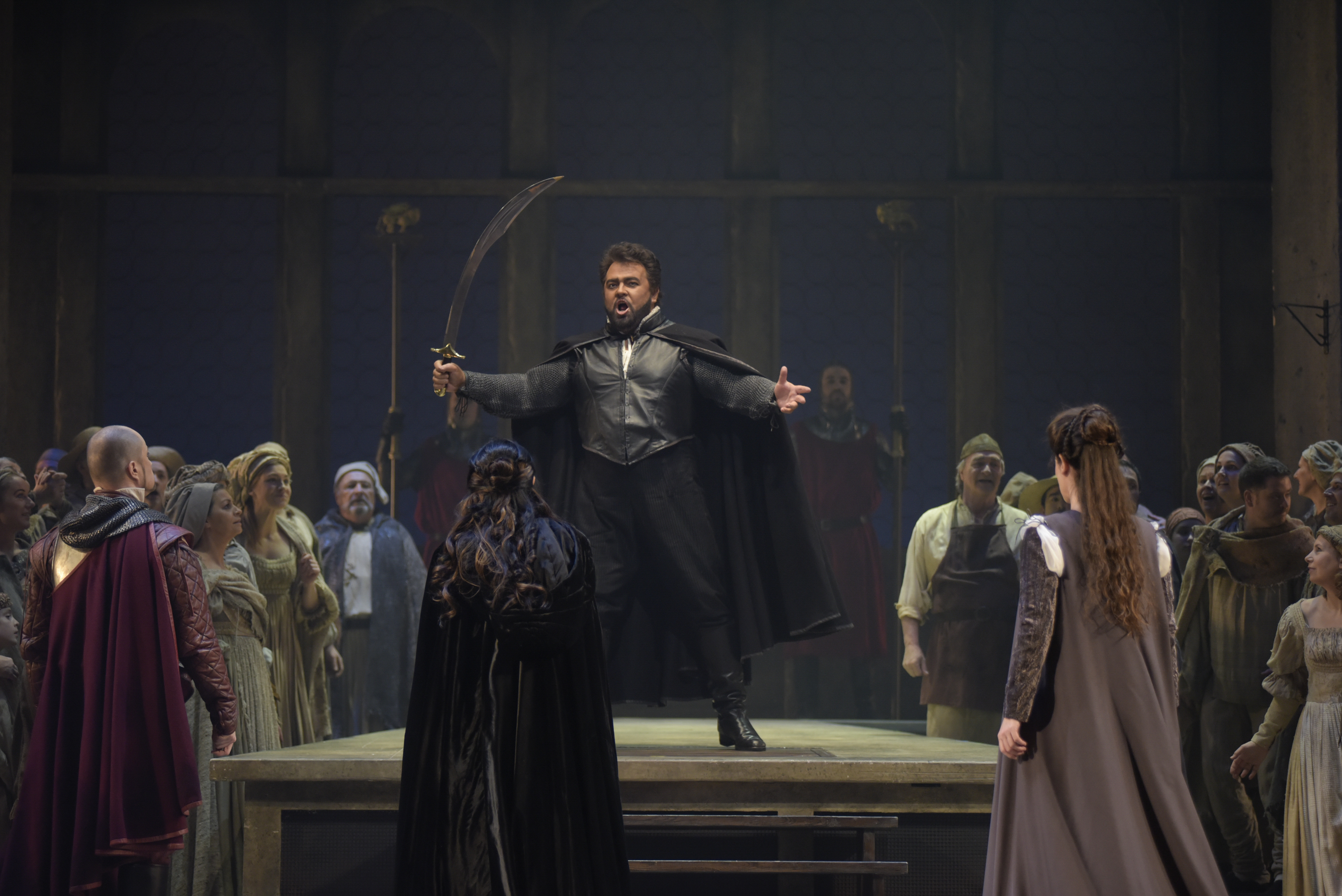 Otello sings of his victory over the Turks. Photo by Yves Renaud.