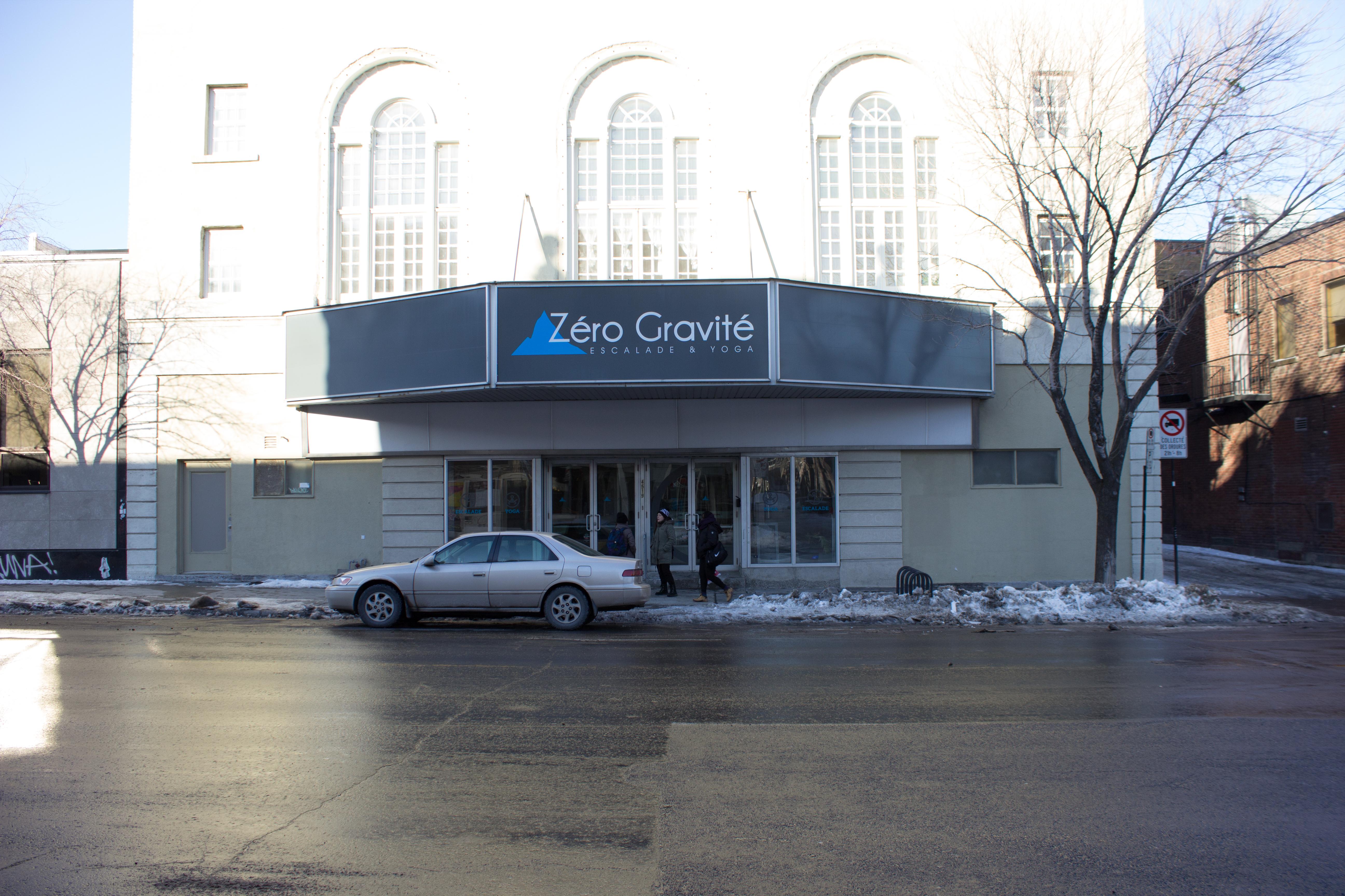 Zero Gravité's building is a large part of Le Plateau's history. Photos by Melissa Martella.