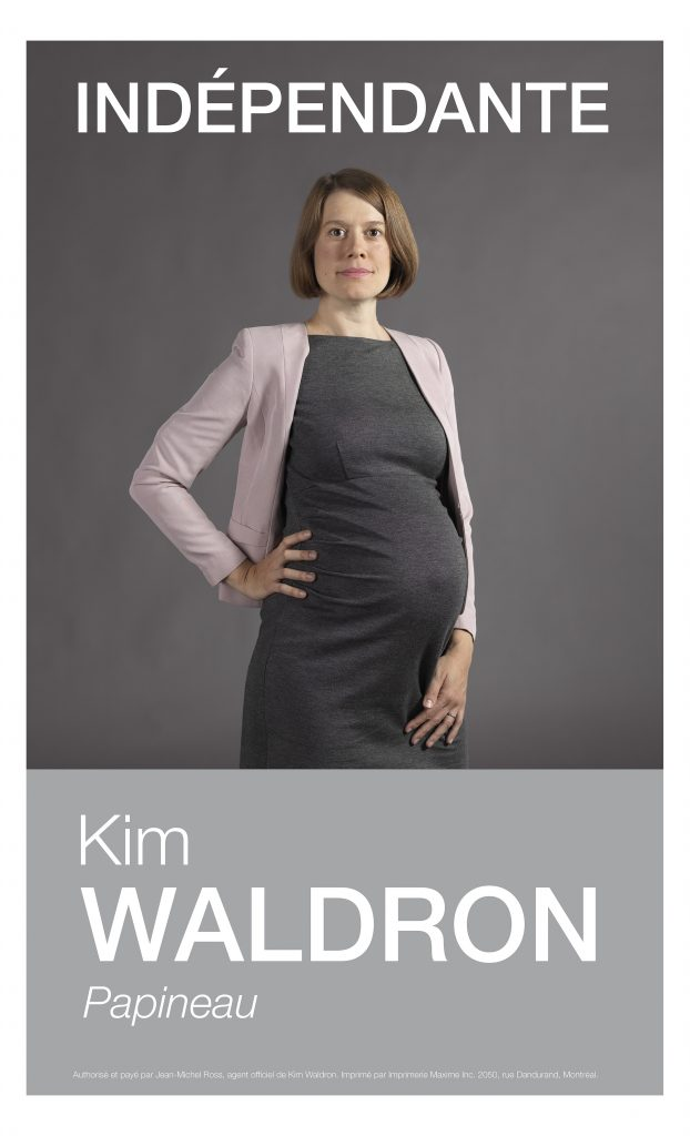 Kim Waldron ran for public office while pregnant, a fact reflected in her campaign photos. Courtesy of the FOFA Gallery