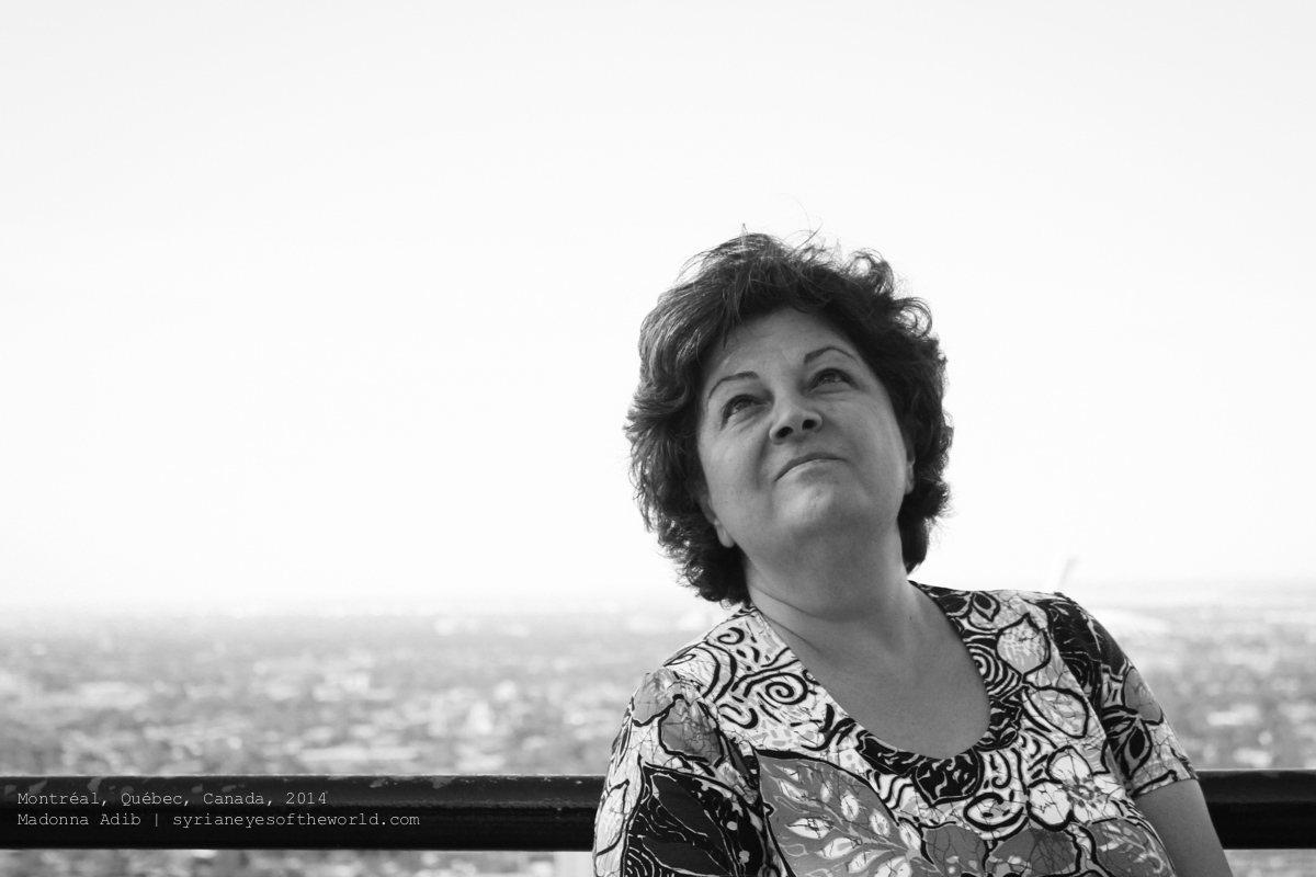 This is a portrait that Syrian photographer Madonna Adib took of her mother. The exhibition tries to shed light on Syrians from a perspective other than war and conflict. Photo by Madonna Adib