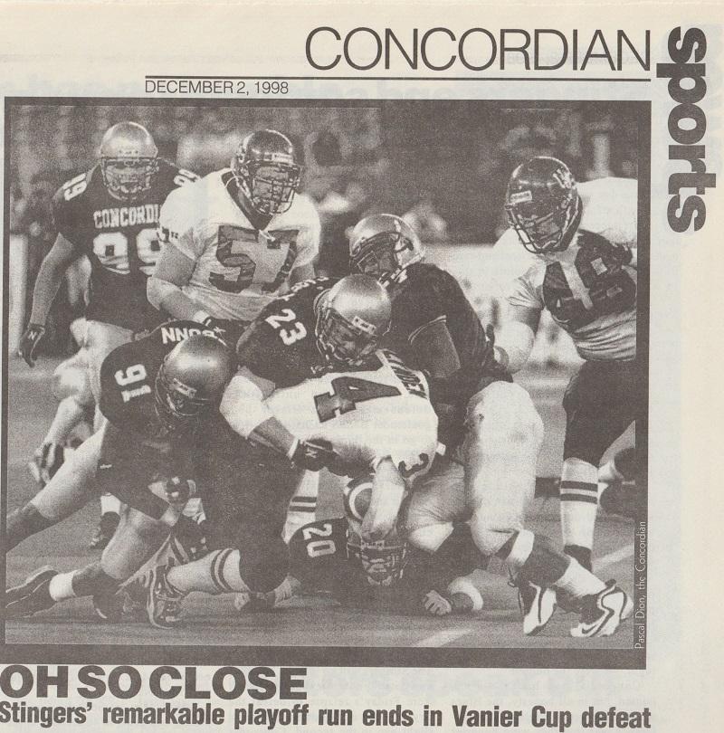1998 concordia stingers football
